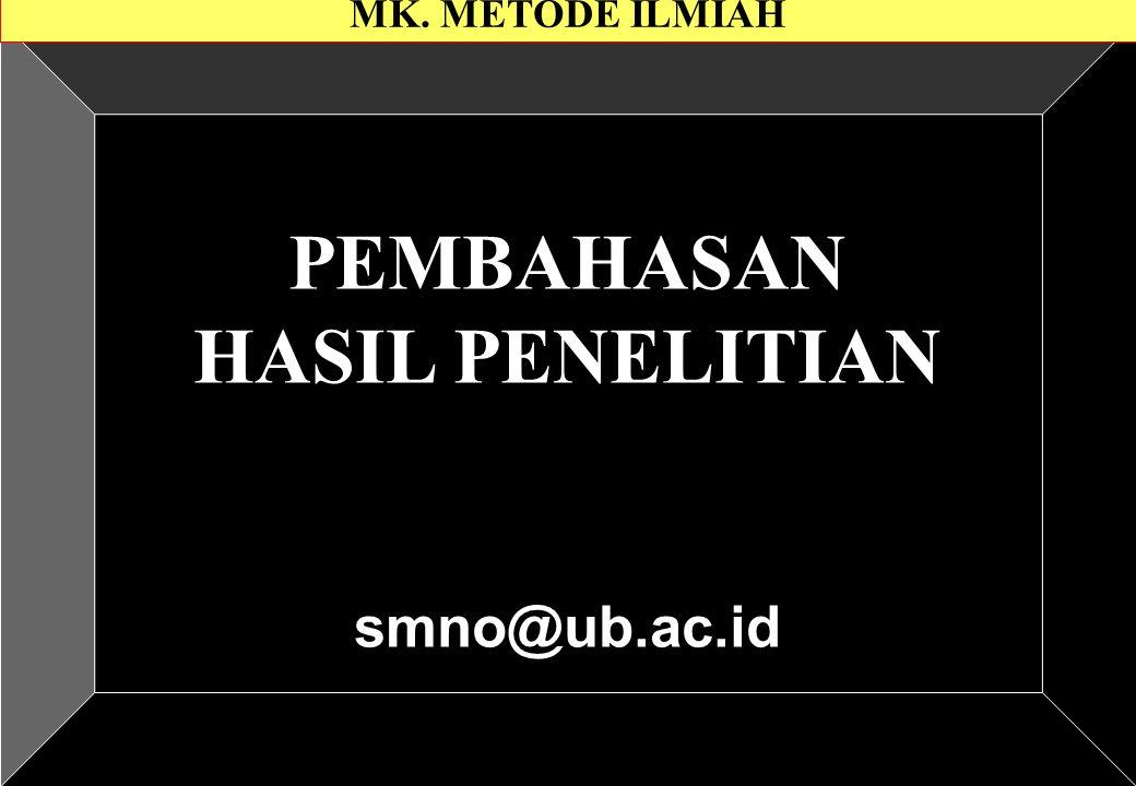 PEMBAHASAN HASIL PENELITIAN