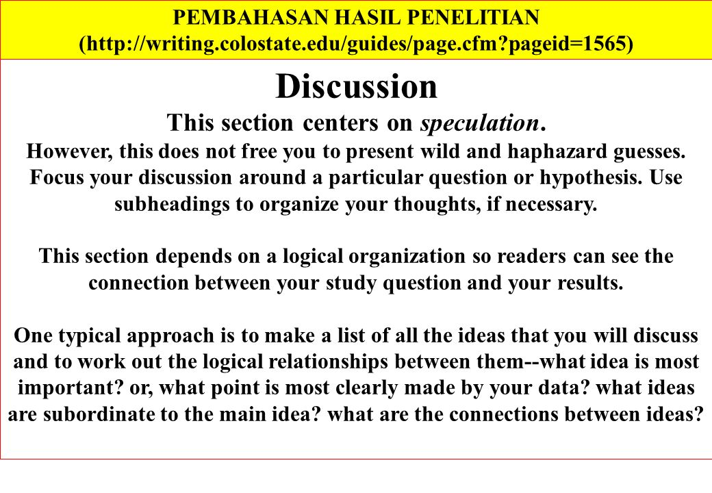 PEMBAHASAN HASIL PENELITIAN This section centers on speculation.