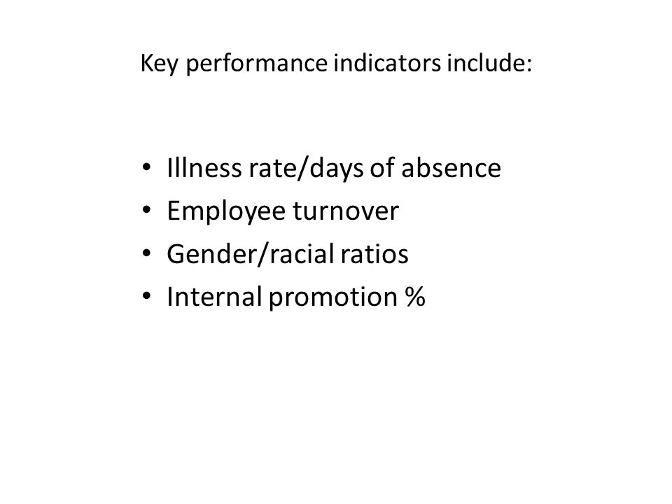 Key performance indicators include: