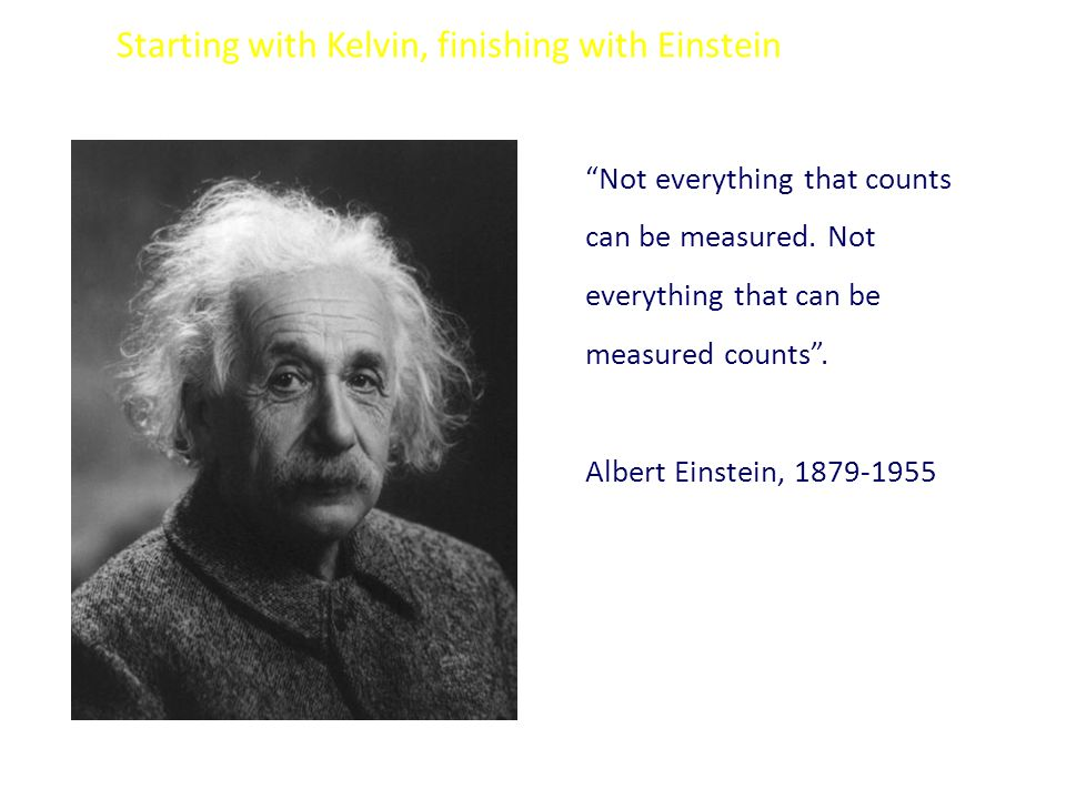Starting with Kelvin, finishing with Einstein