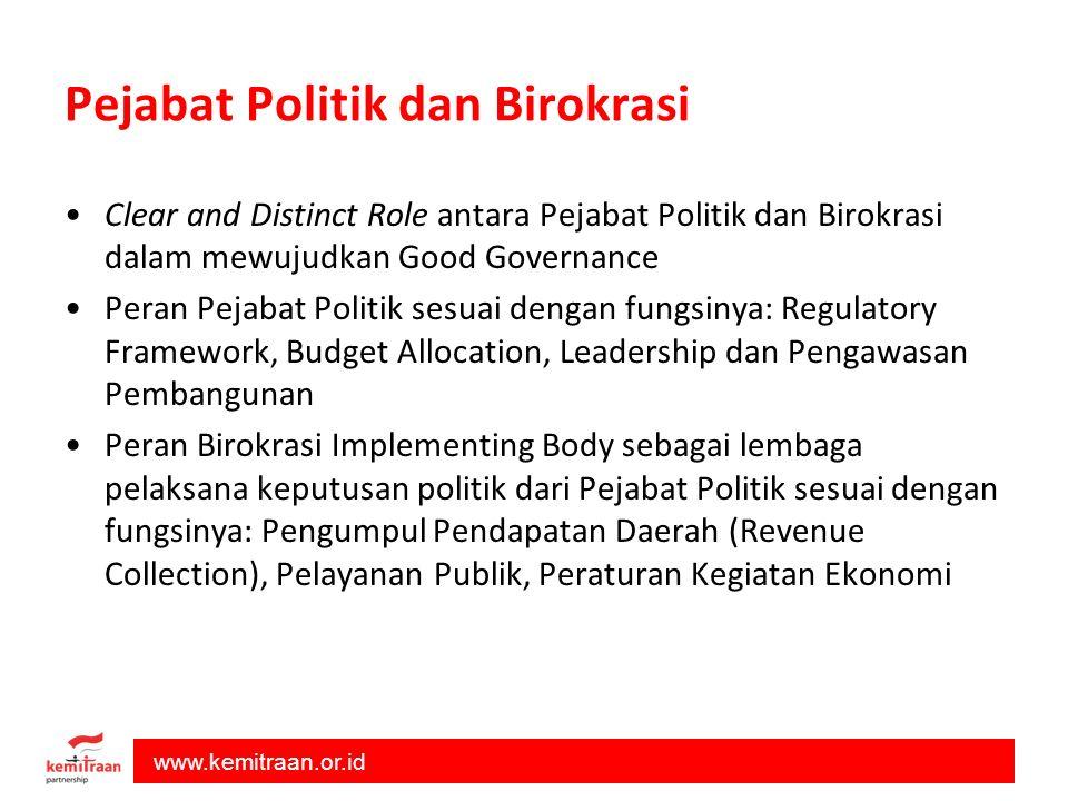 Pejabat Politik dan Birokrasi