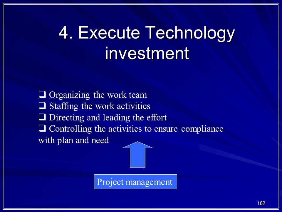 4. Execute Technology investment