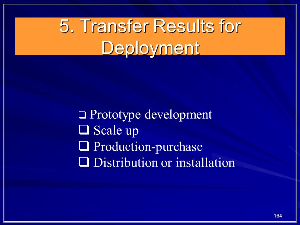 5. Transfer Results for Deployment
