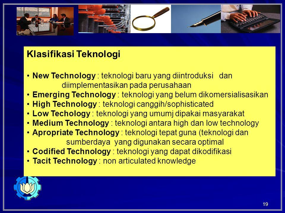 Klasifikasi Teknologi