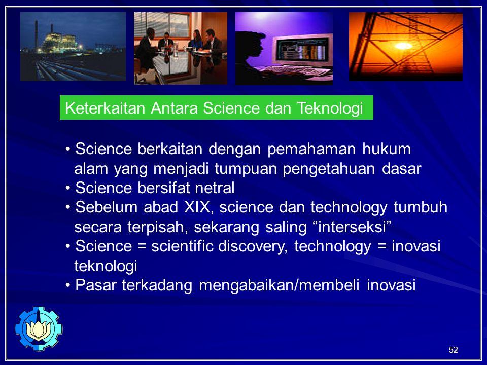 Keterkaitan Antara Science dan Teknologi