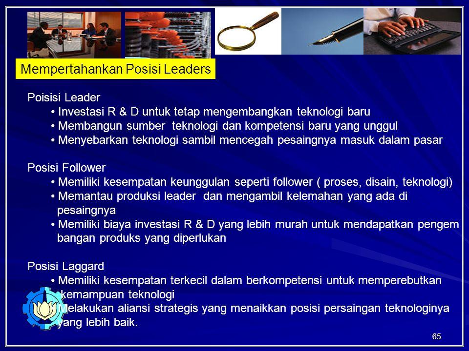 Mempertahankan Posisi Leaders