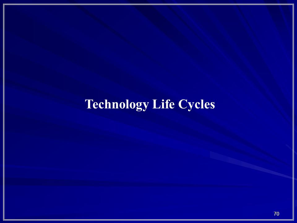 Technology Life Cycles