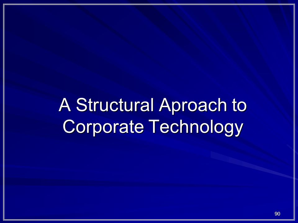 A Structural Aproach to Corporate Technology