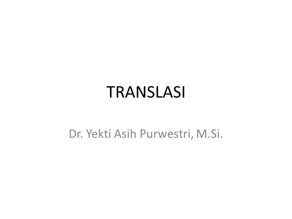 Dr. Yekti Asih Purwestri, M.Si.