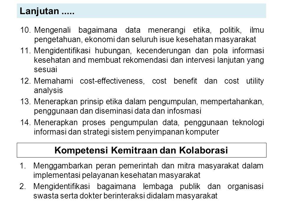 Kompetensi Kemitraan dan Kolaborasi