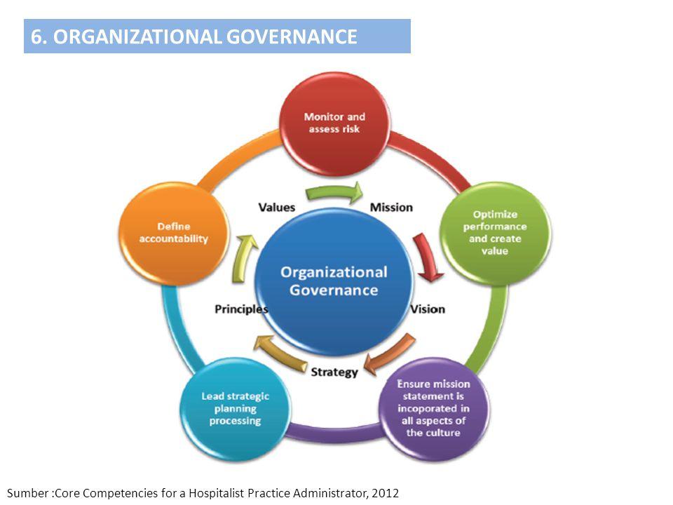6. ORGANIZATIONAL GOVERNANCE