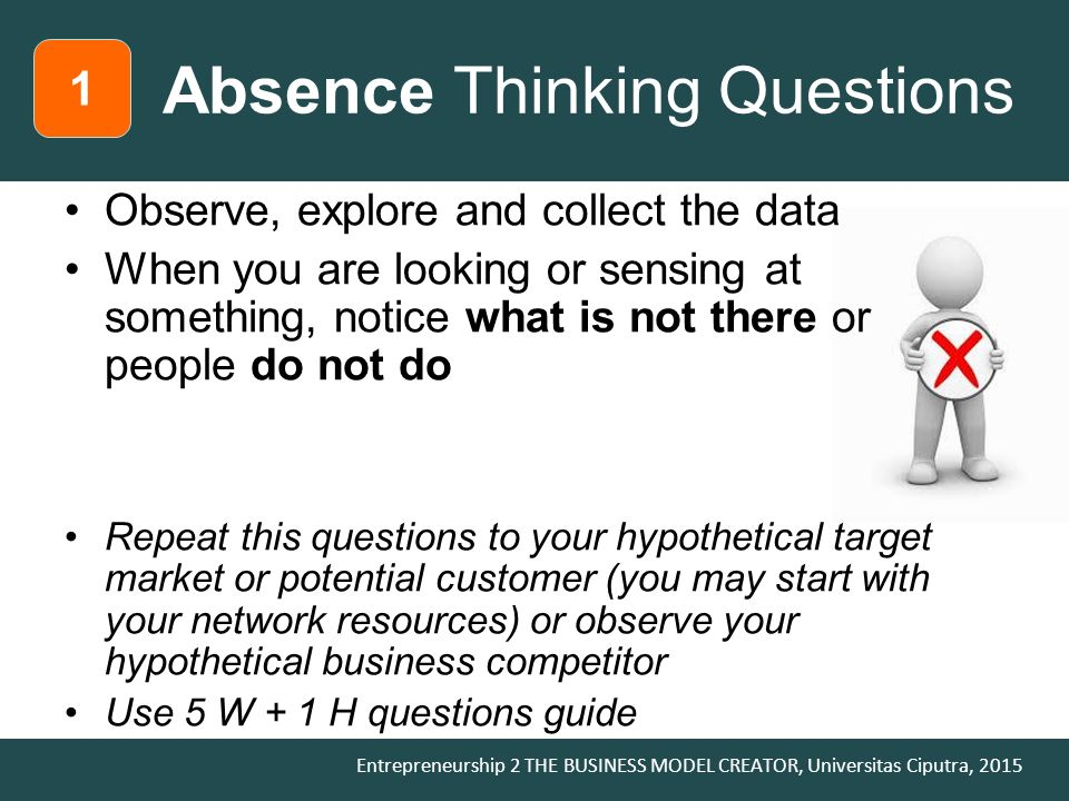 Absence Thinking Questions