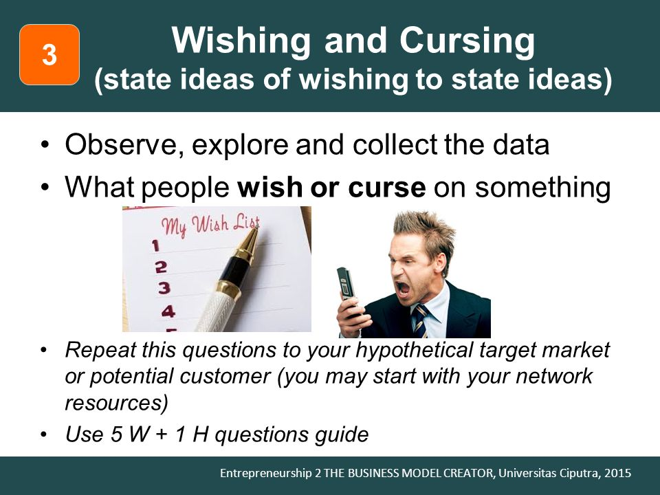 Wishing and Cursing (state ideas of wishing to state ideas)