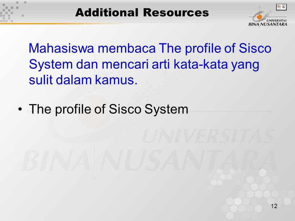 The profile of Sisco System