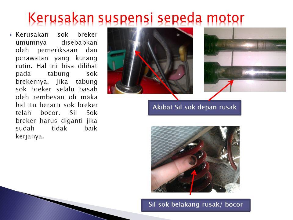 Kerusakan suspensi sepeda motor