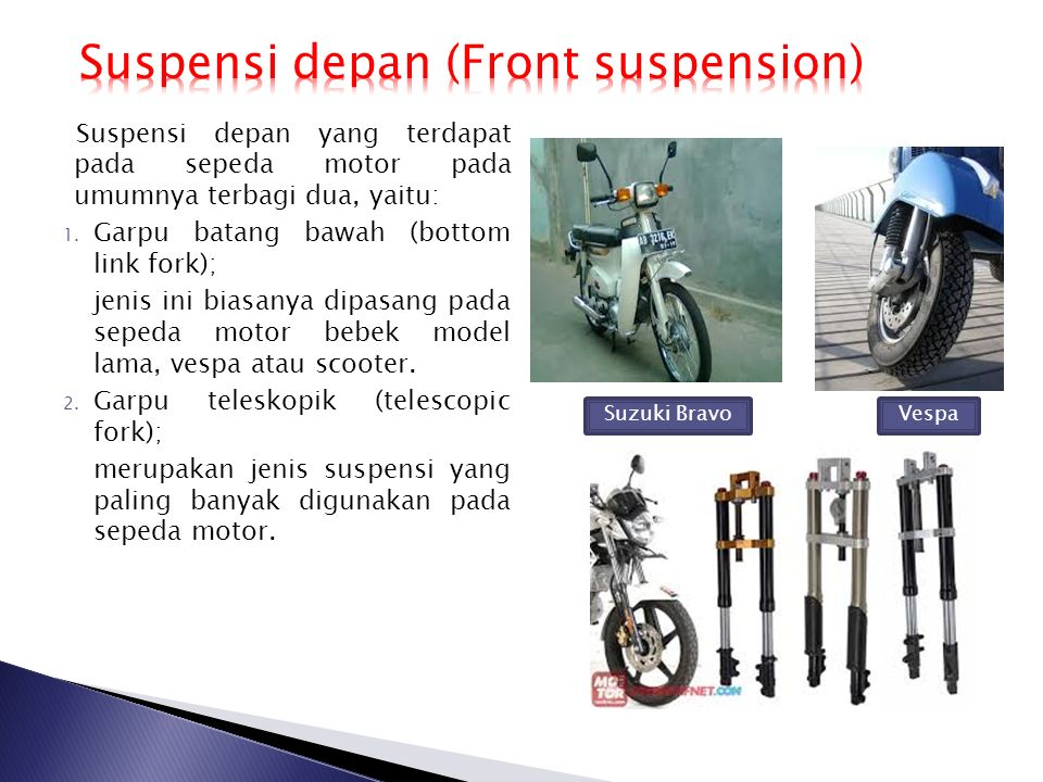 Suspensi depan (Front suspension)