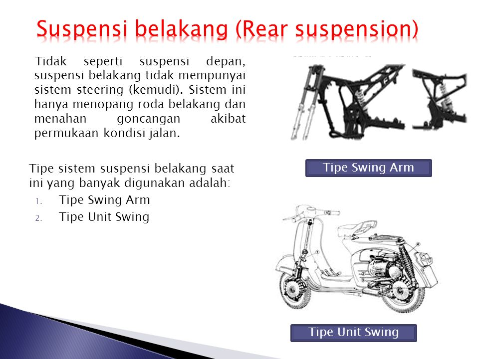 Suspensi belakang (Rear suspension)