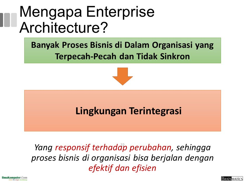Mengapa Enterprise Architecture