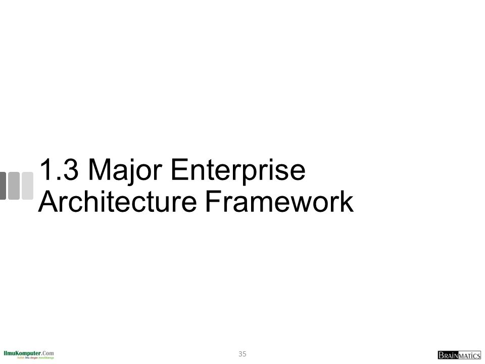 1.3 Major Enterprise Architecture Framework