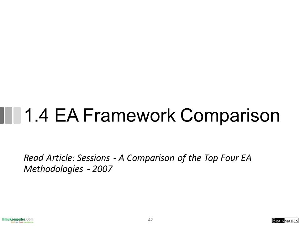 1.4 EA Framework Comparison