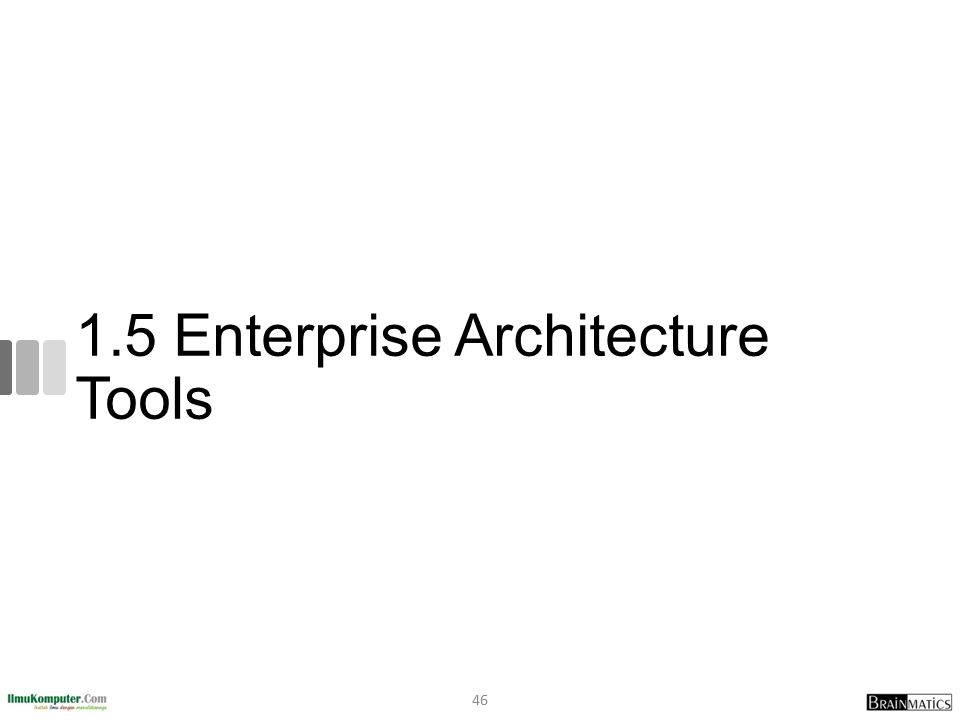 1.5 Enterprise Architecture Tools