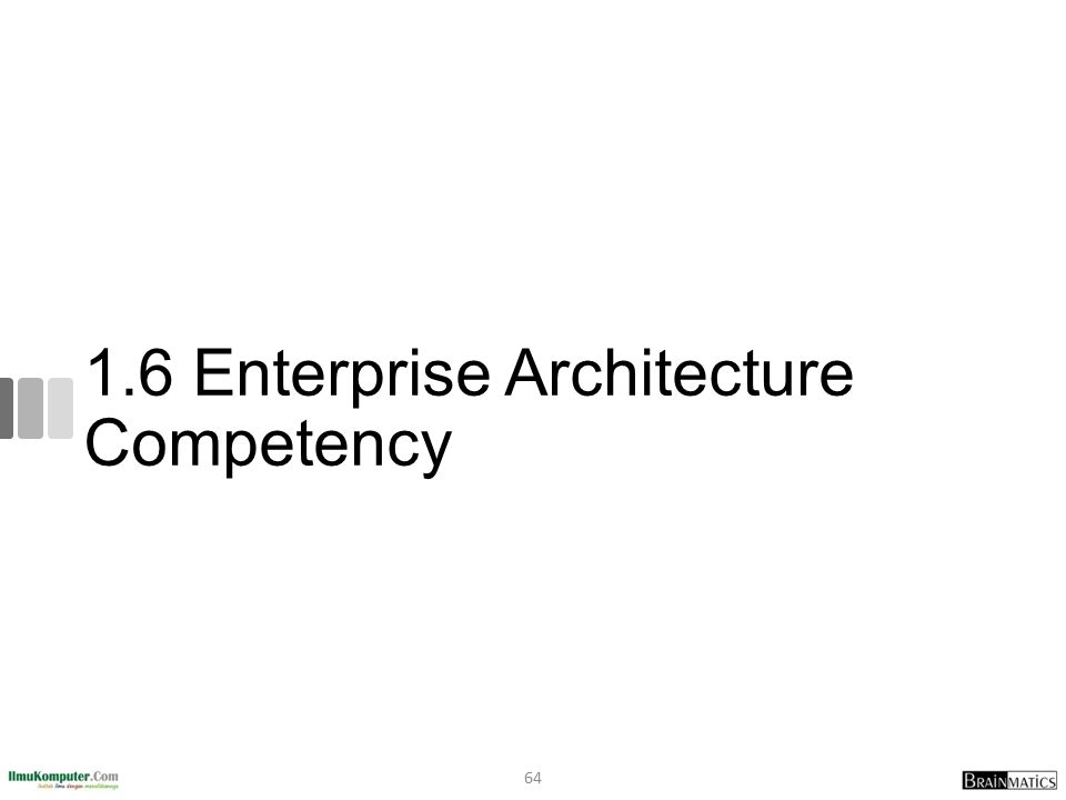 1.6 Enterprise Architecture Competency
