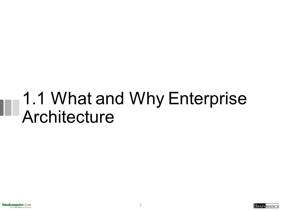 1.1 What and Why Enterprise Architecture