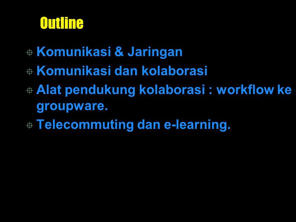 Outline Komunikasi & Jaringan Komunikasi dan kolaborasi