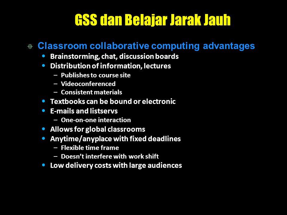 GSS dan Belajar Jarak Jauh