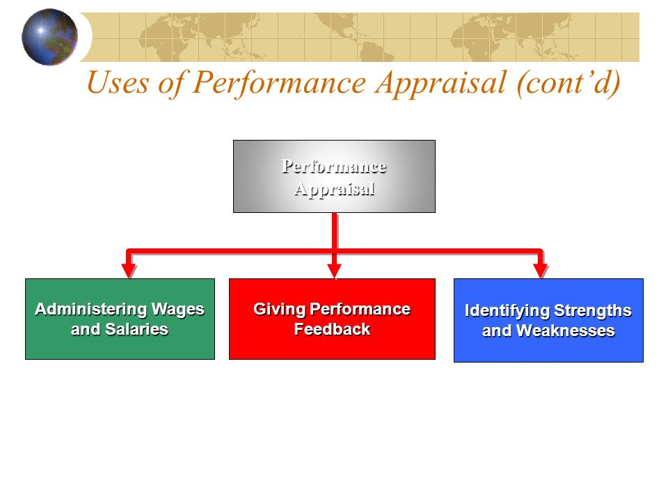 Uses of Performance Appraisal (cont'd)