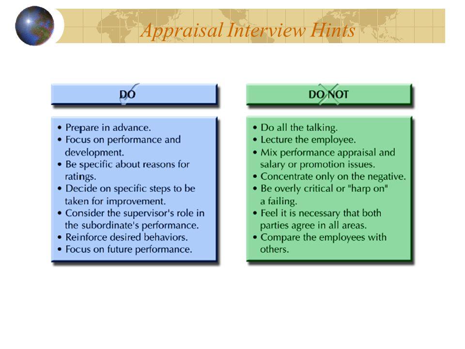 Appraisal Interview Hints