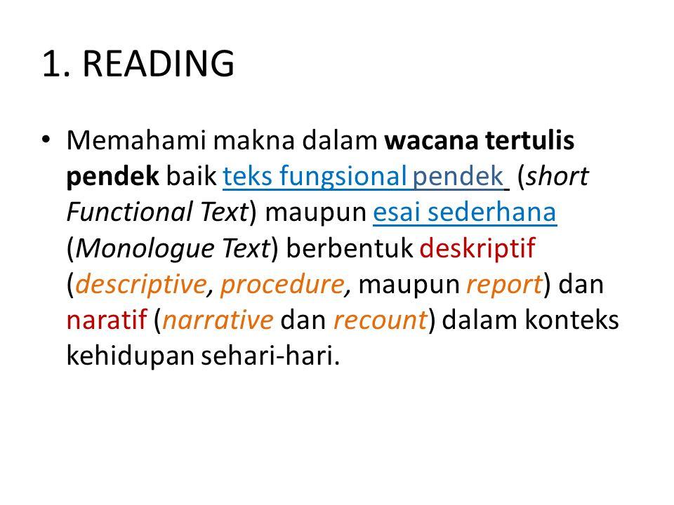 1. READING