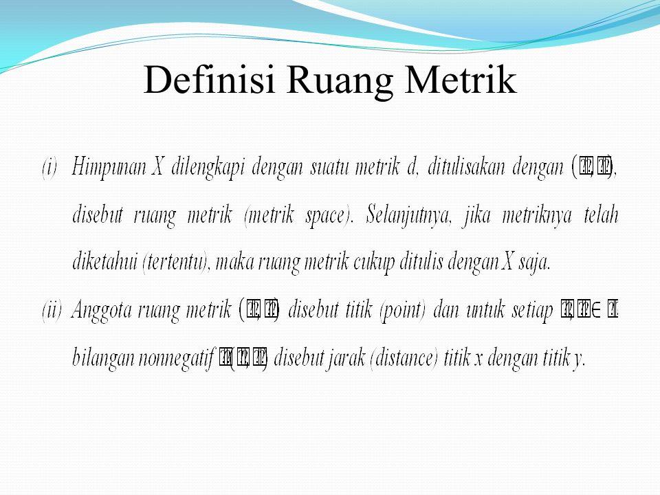 Definisi Ruang Metrik