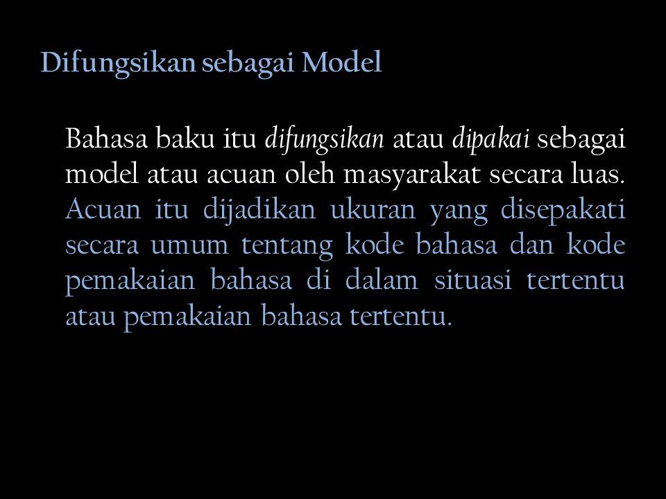 Difungsikan sebagai Model