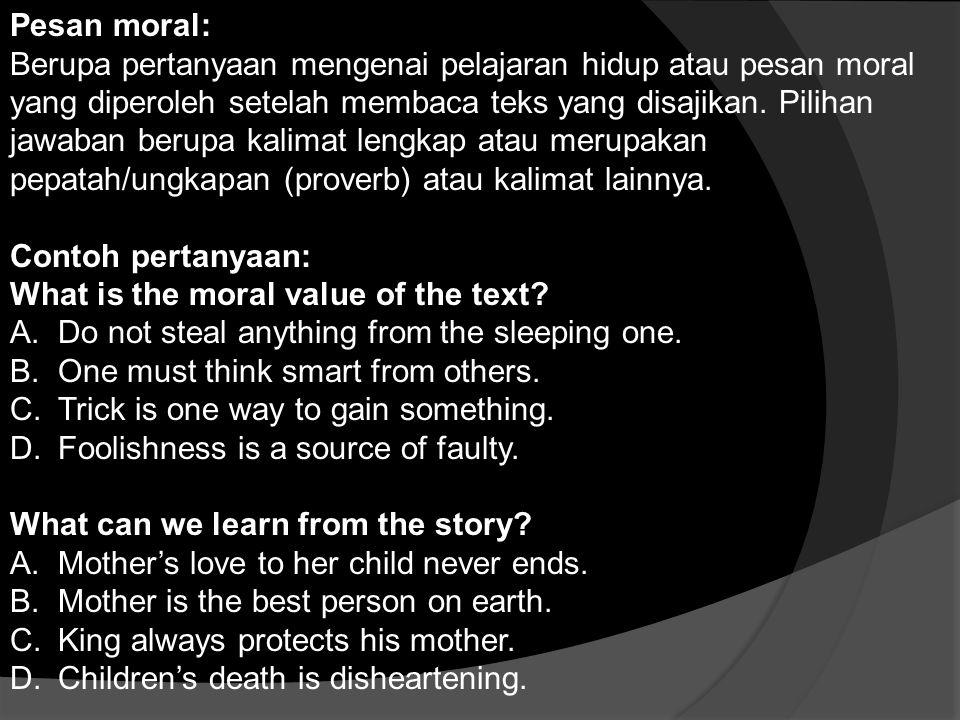 Pesan moral: