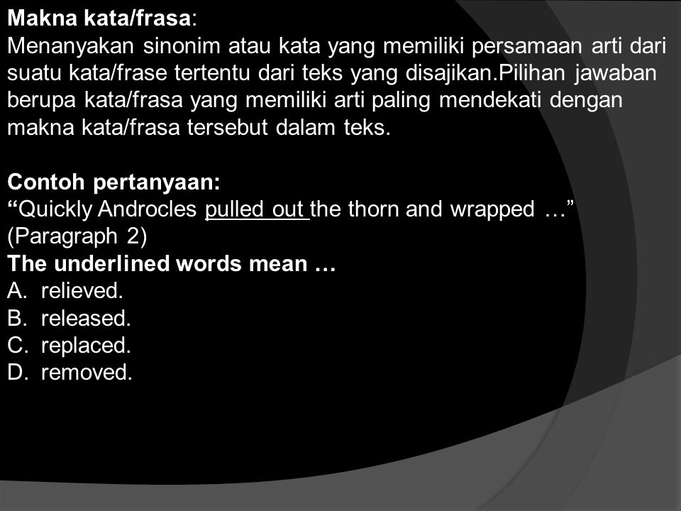 Makna kata/frasa: