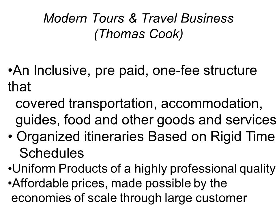 Modern Tours & Travel Business (Thomas Cook)