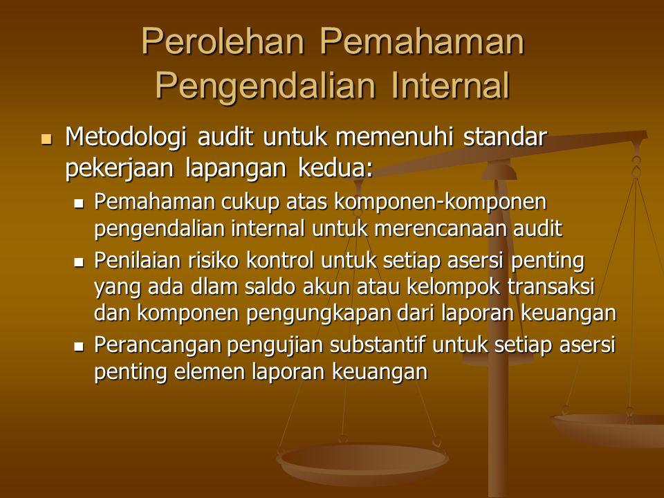 Perolehan Pemahaman Pengendalian Internal