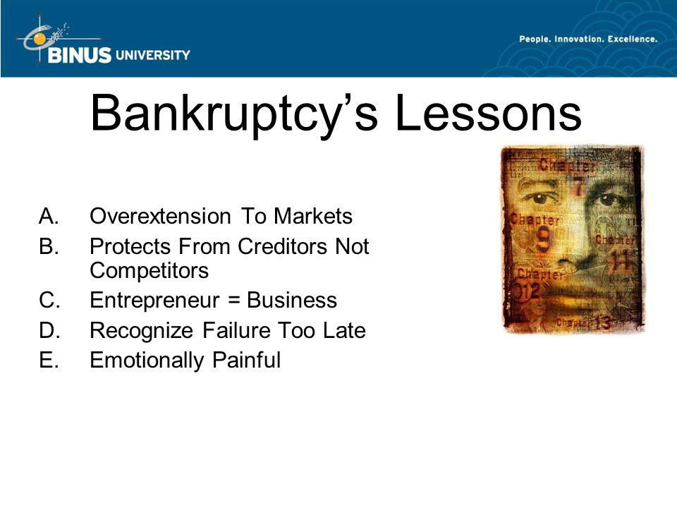 Bankruptcy's Lessons Overextension To Markets
