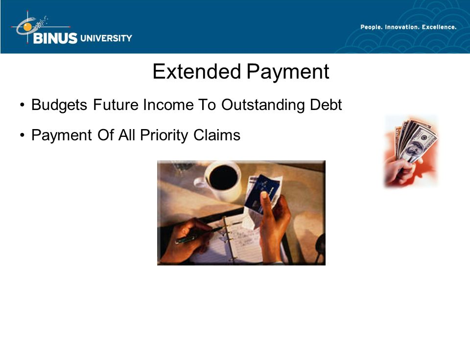 Extended Payment Budgets Future Income To Outstanding Debt