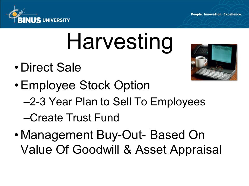 Harvesting Direct Sale Employee Stock Option
