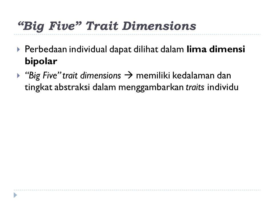 Big Five Trait Dimensions