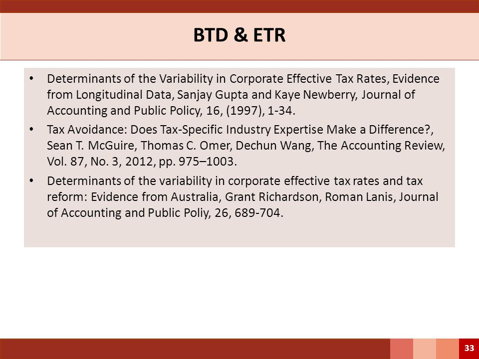 BTD & ETR