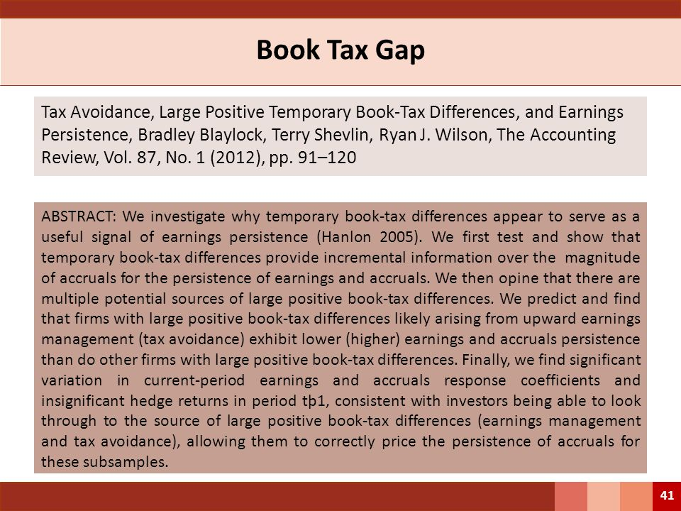 Book Tax Gap
