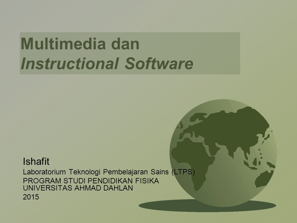 Multimedia dan Instructional Software