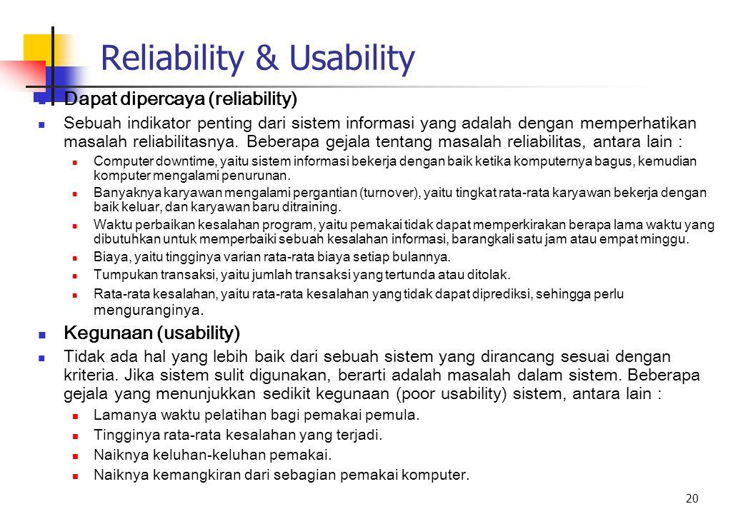 Reliability & Usability