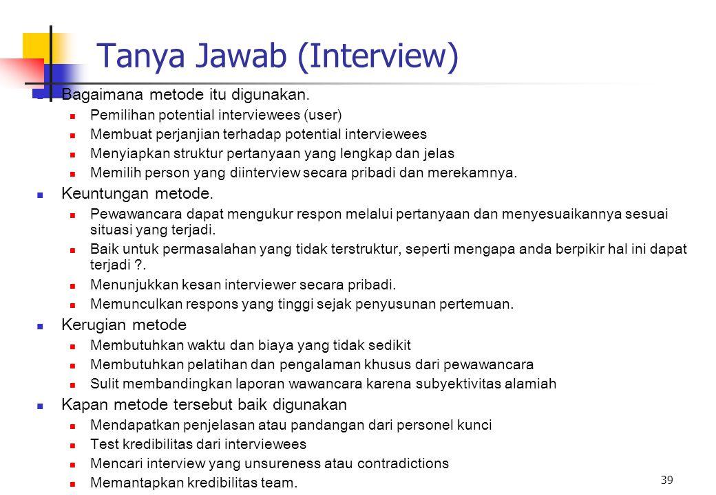 Tanya Jawab (Interview)