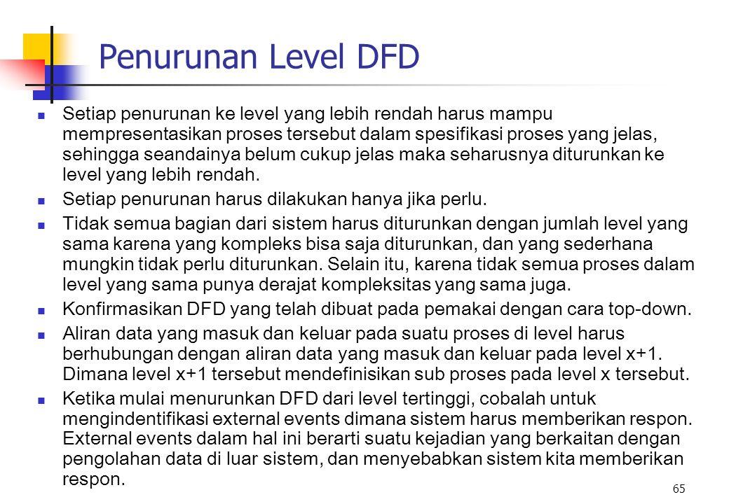 Penurunan Level DFD