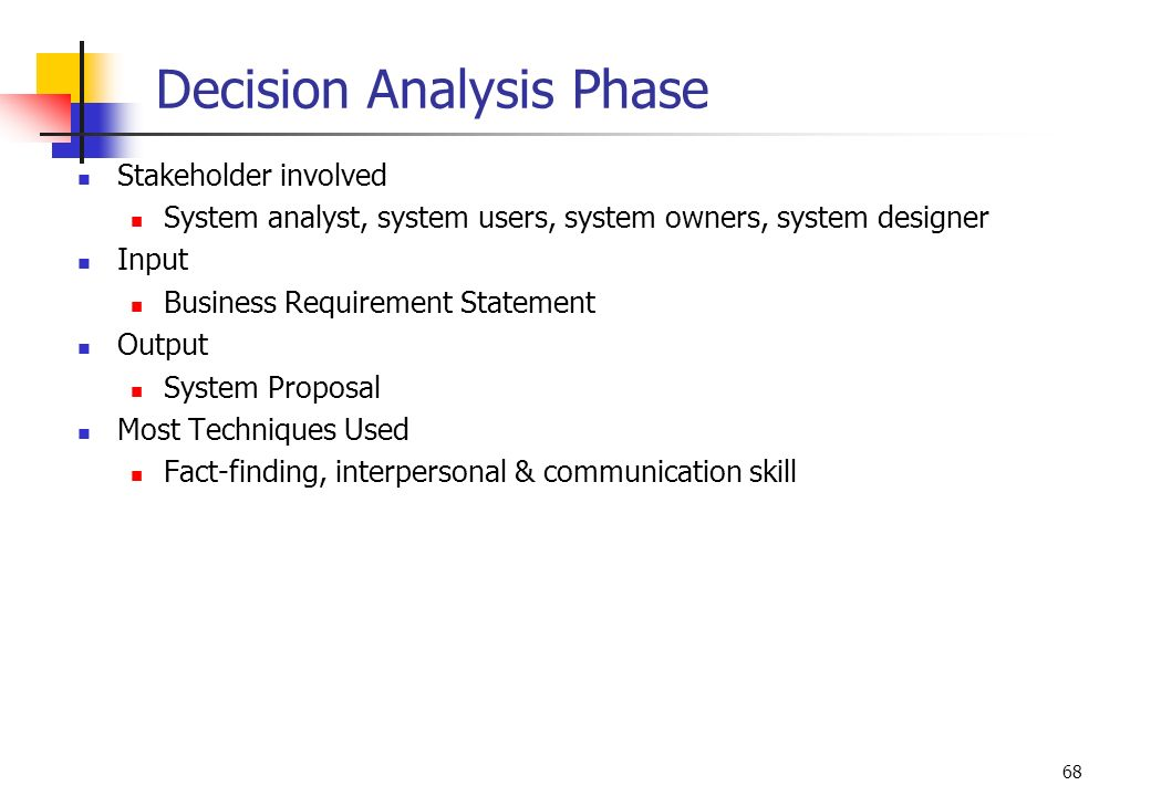 Decision Analysis Phase