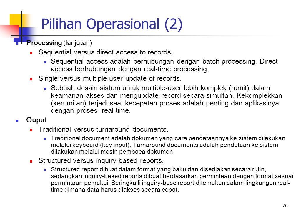 Pilihan Operasional (2)